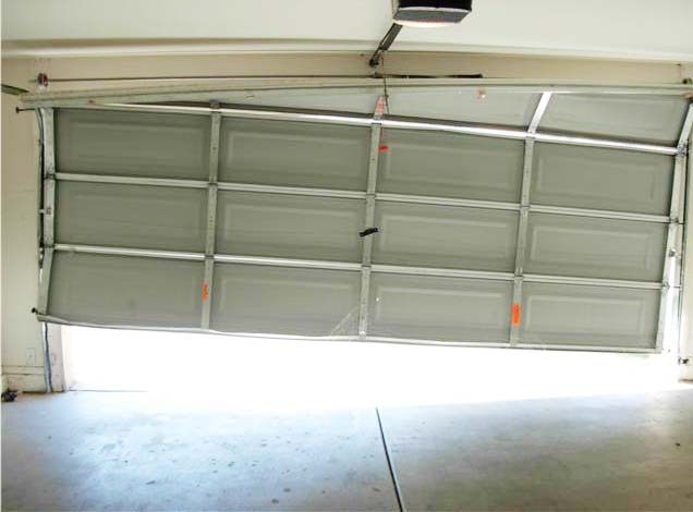 garage doors off track - Garage Door Off Track